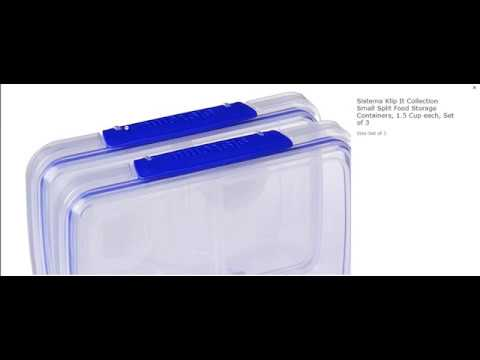 Sistema Klip It Collection Small Split Food Storage Containers 15