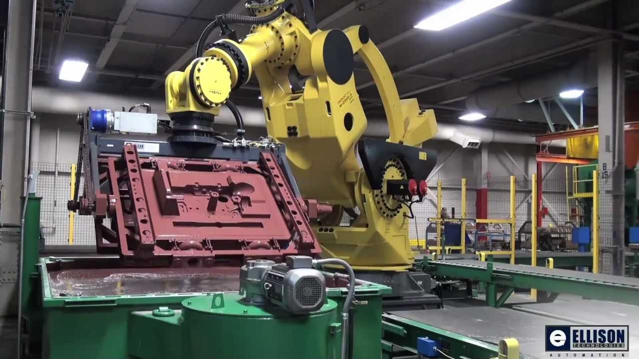 Sand Casting Coating With Fanuc M 2000ia Robot Courtesy