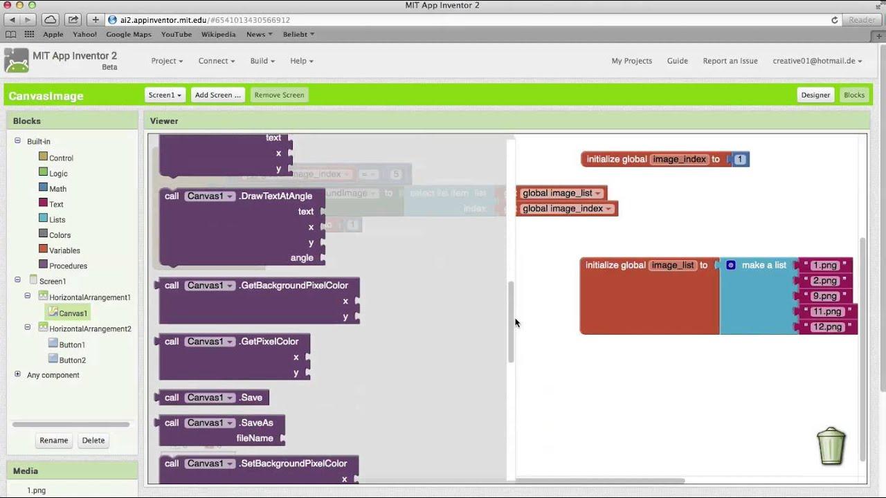 App Inventor 2 Tutorial Canvas image HD