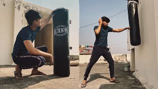 The Best and Cheapest Boxing Punching Bag In India w Hand wraps