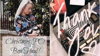 Huge Christmas Blogger Mail Unboxing & A Healthy Festive Snack Recipe!   |   Fashion Mumblr