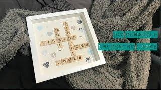 DIY Scrabble Crossword Frame