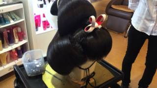 geisha wig, Japanese traditional wig for wedding.