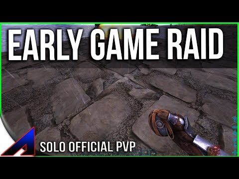Early Game Solo Raiding And PvP! | Solo Life | Official PvP  | ARK: Survival Evolved | Ep 3