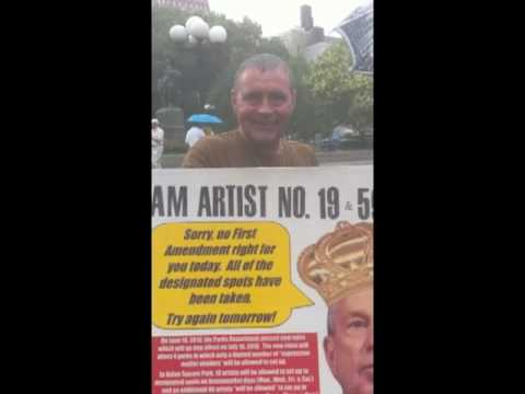 Mike Bloomberg Artist Protest Union Square Tony Chisholm interview!