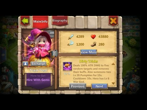 ROLLING FOR TRIXIE TREAT + UPDATE REVIEW!!!!- CASTLE CLASH