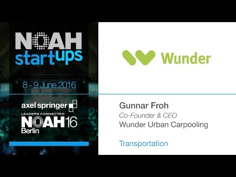Wunder Urban Carpooling - NOAH16 Berlin Startup Competition