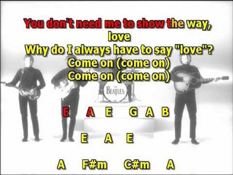 Please Please Me Beatles best karaoke instrumental lyrics chords