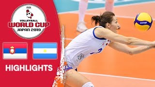 SERBIA vs. ARGENTINA - Highlights | Women's Volleyball World Cup 2019