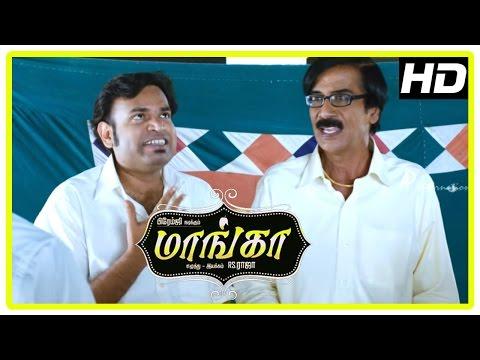 Maanga Tamil Comedy Movie | Premgi Amaren Suicide Attempt | Premgi Rocket Mission Failure | Manobala