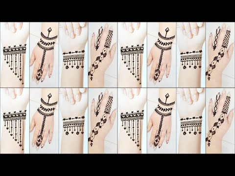 New Stylish Mehndi❤️Beautiful Heena Mehndi Tattoo Designs ❤️ TATTOO DESIGNS with step by step 2020