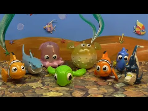 2003 MCDONALD FINDING NEMO SET OF 8 KIDS MEAL TOYS VIDEO REVIEW ...