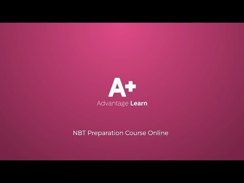 NBT test full online preparation course. Both AQL and MAT.