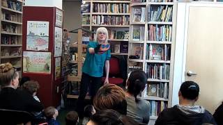 "Esther Crow at Bank Street Book Store May, 2017: ""Bernie the Bee"" and ""The Letter Z"""