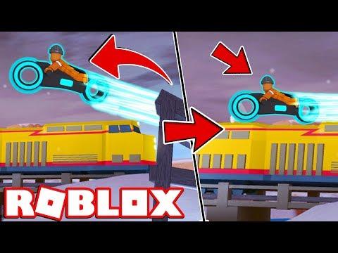 VOLT BIKE vs TRAIN!!   Roblox Jailbreak Update