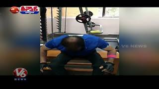 Komatireddy Venkat Reddy Workout In GYM After Defeat In TS Assembly Polls | Teenmaar News | V6 News