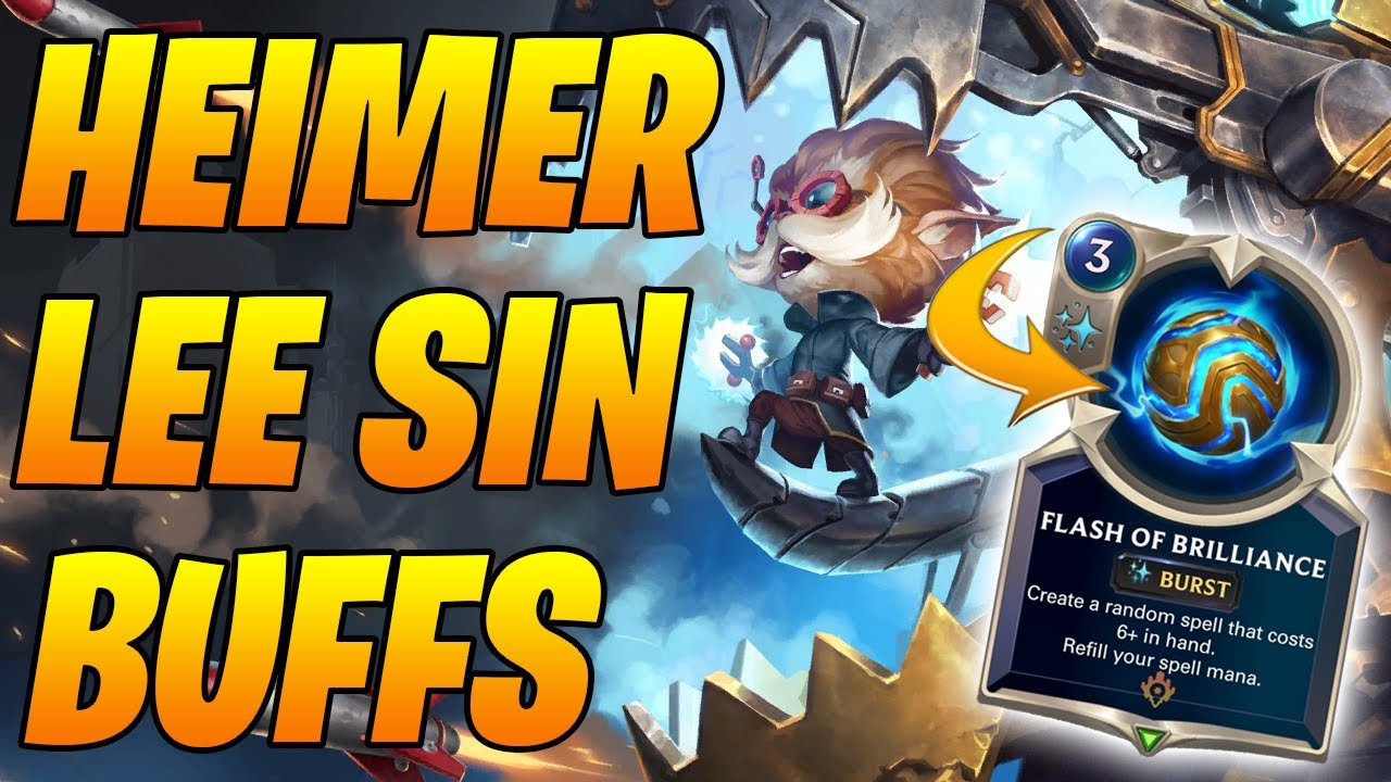 New Patch New Heimer Lee Sin👀| Legends of Runeterra | Controltheboard