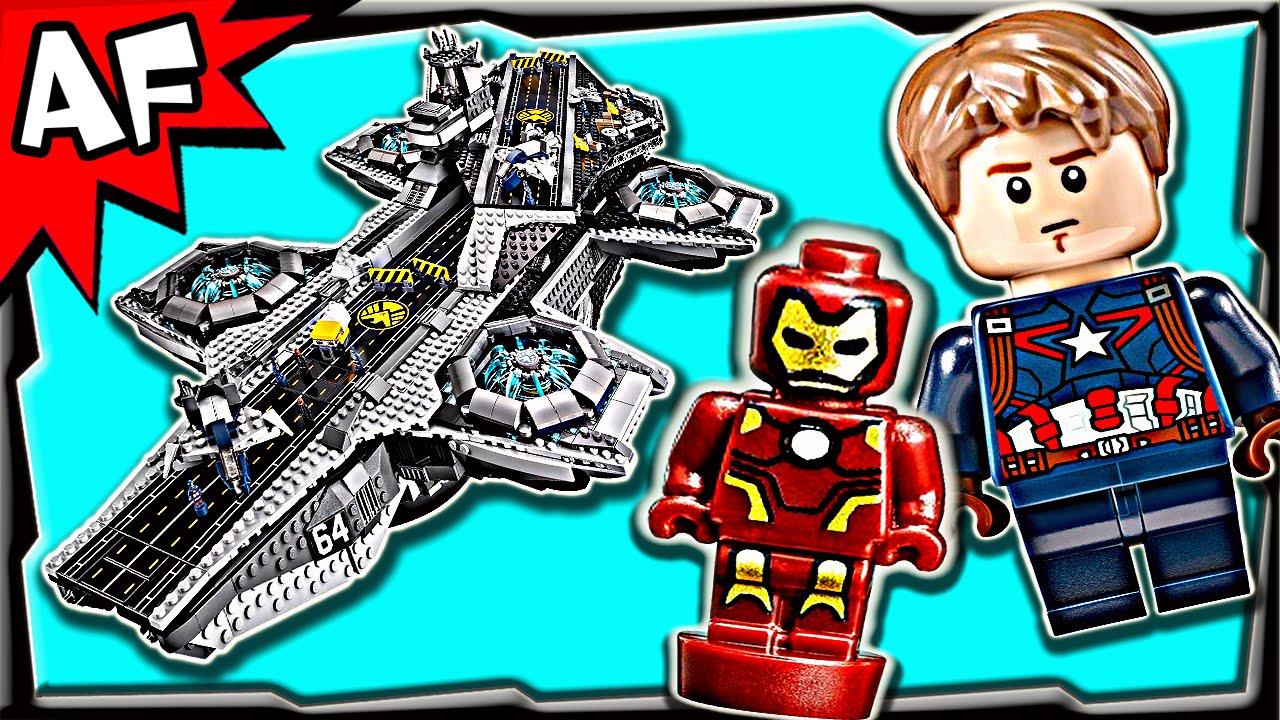 Lego Avengers SHIELD HELICARRIER 76042 Stop Motion Build ...