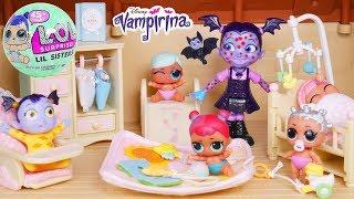 Don't Wake Vampirina is SICK CHICKENPOX Babysitting Game Morning Dolls Routine Slumber Sleepover!