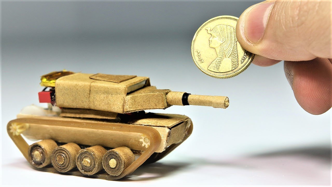 How To Make A Micro Size Battle Tank That Moves Over Obstacles