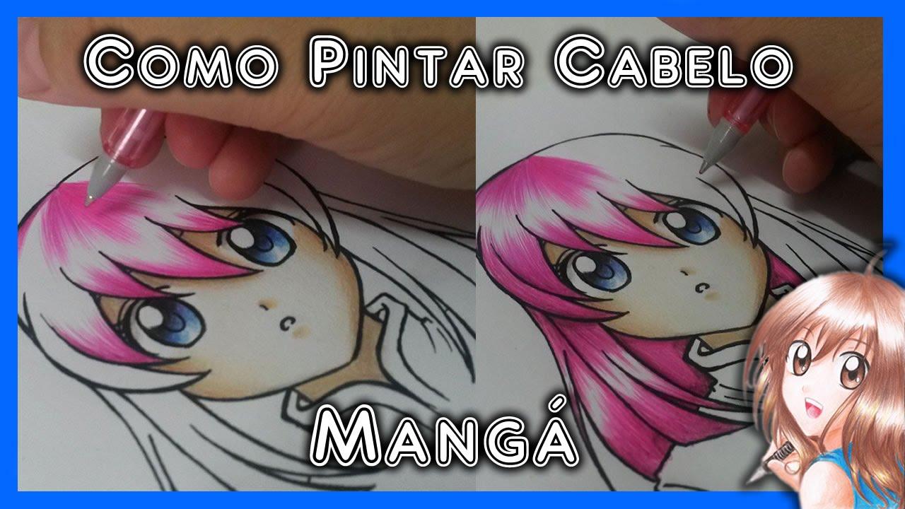 Como Desenhar Manga Pintura De Cabelo Lapis De Cor Youtube