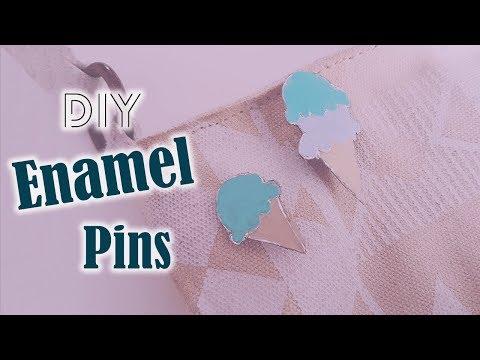 DIY Enamel pins using Aluminum foil ~ No shrinking plastic needed! l Creative Gen - DIY
