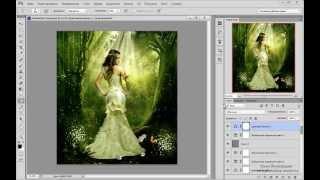 Создаём коллаж Сказочный лес в Adobe Photoshop