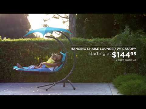 Best Choice Productsu0027 Hanging Chaise Lounger W/ Canopy