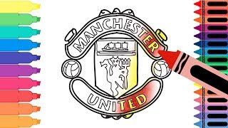 How to Draw Manchester United F.C. Badge - Drawing the Man U Badge for Kids   Tanimated Toys