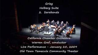 Grieg Holberg Suite part 1 - California Chamber Orchestra