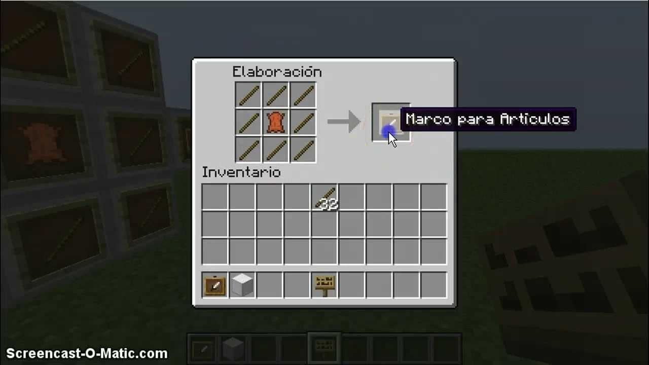 Perfecto Cómo Hacer Un Marco En Minecraft Colección de Imágenes ...