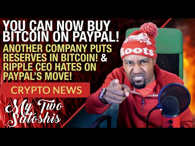 CRYPTO MARKET UPDATE: BITCOIN NOW AVAILABLE ON PAYPAL, WHILE RIPPLE'S CEO HATES ON THEM!