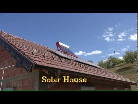 Solar House Votovoltaik 1500 watt Inselanlage Energy with sun. Solar hot water