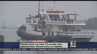 Party Boat Runs Aground Off Woods Hole