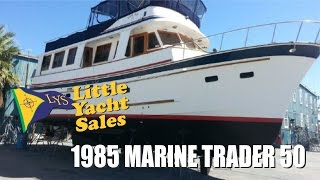 SOLD!!! 1985 Marine Trader Trawler Yacht for sale at Little Yacht Sales, Kemah Texas