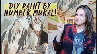 PAINT BY NUMBER MURAL (epic DIY vlog)
