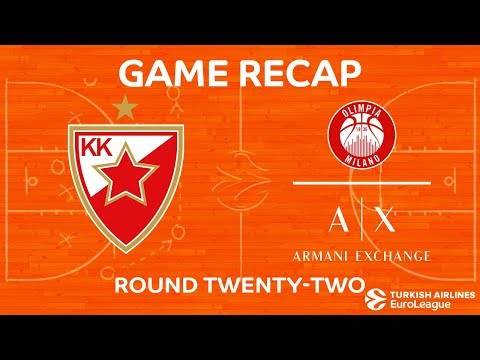 Highlights: Crvena Zvezda mts Belgrade - AX Armani Exchange Olimpia Milan