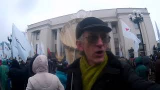 Protest of Hungry Ukrainian Scientists: Give Salary for Scientists!