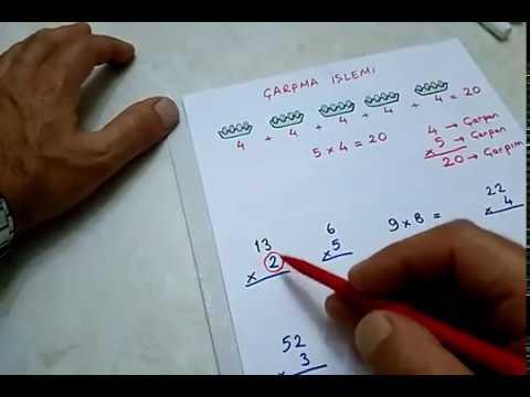 3.sınıf matematik çarpma işlemi-1- #Bulbulogretmen