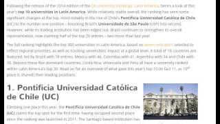 Top 10 Universities in Latin America 2015