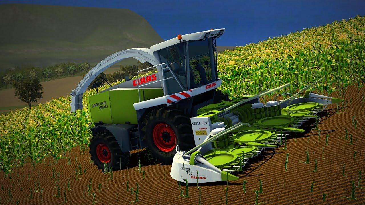Farming Simulator 2013 Silage Claas Jaguar 890 Youtube