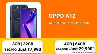 Oppo A12 Unboxing and First Impression in Hindi | 3gb Ram 32gb Rom Black color & Price 9990
