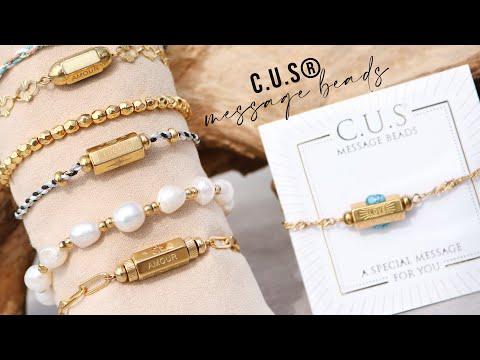 Confectionnez des bijoux à messages avec les perles à message C.U.S®