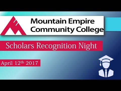 Mountain Empire Community College - Scholar Night - 4-12-17