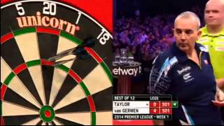 Michael Van Gerwen 7-0 VS Phil Taylor! PREMIER LEAGUE DARTS 07/02/14