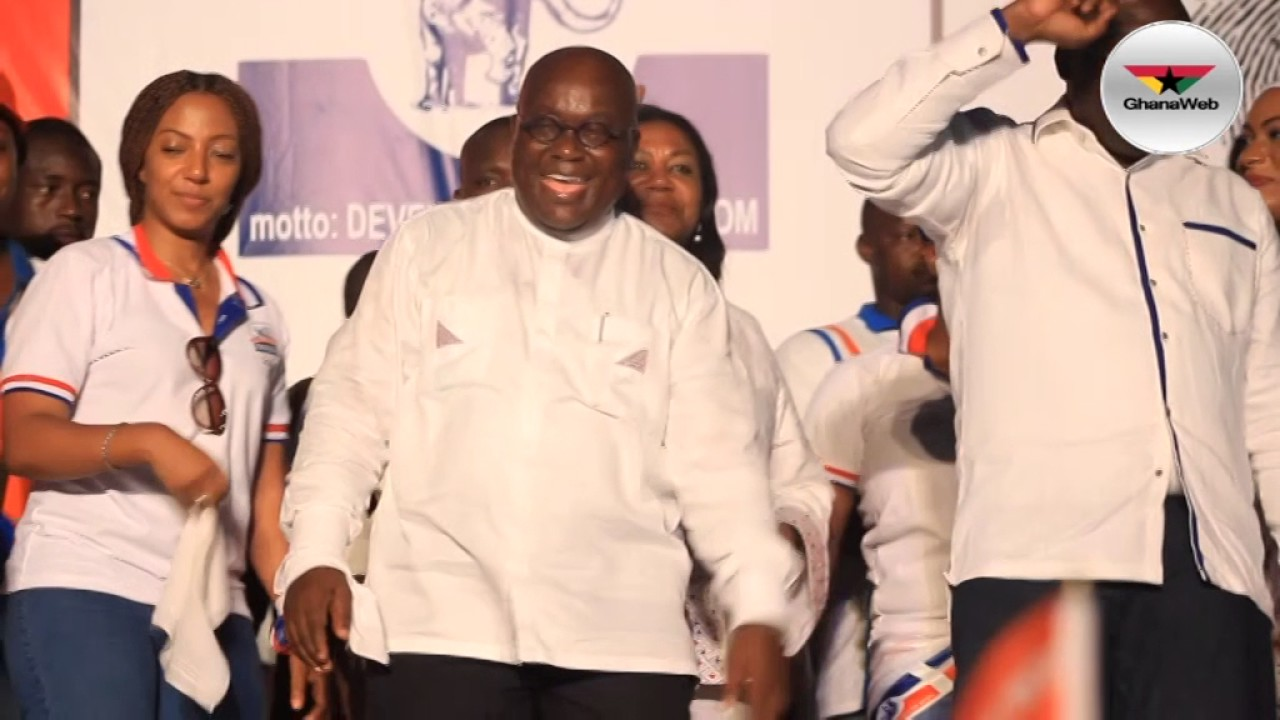 Throwback: Akufo-Addo dances to 'Oye' at NPP final rally