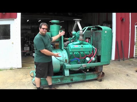 844 Cubic Inch V8 GENERATOR Lets Find Out What Is Ailing It... Onan 140WE