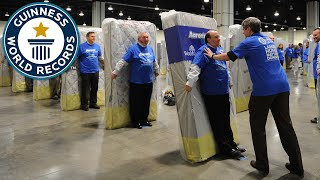 Largest human mattress dominoes - Guinness World Records thumbnail
