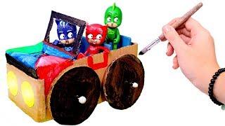 PJ MASKS 🚖 Hacemos un coche de cartón para los Heroes en Pijama