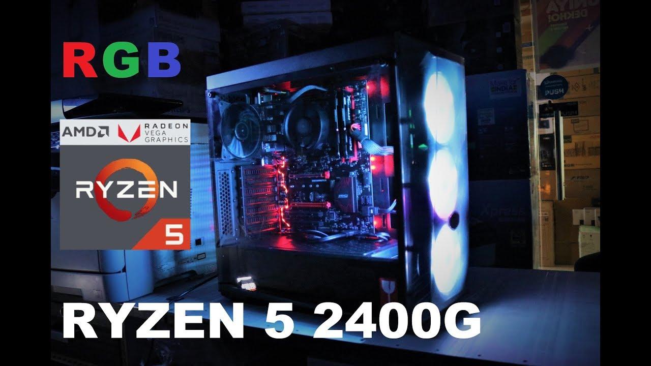 Ryzen 5 2400G PC Build | Budget 51K | Bios Updated !!